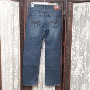 Vans Jeans - VANS Distressed Fade Vintage Denim Blue Jeans